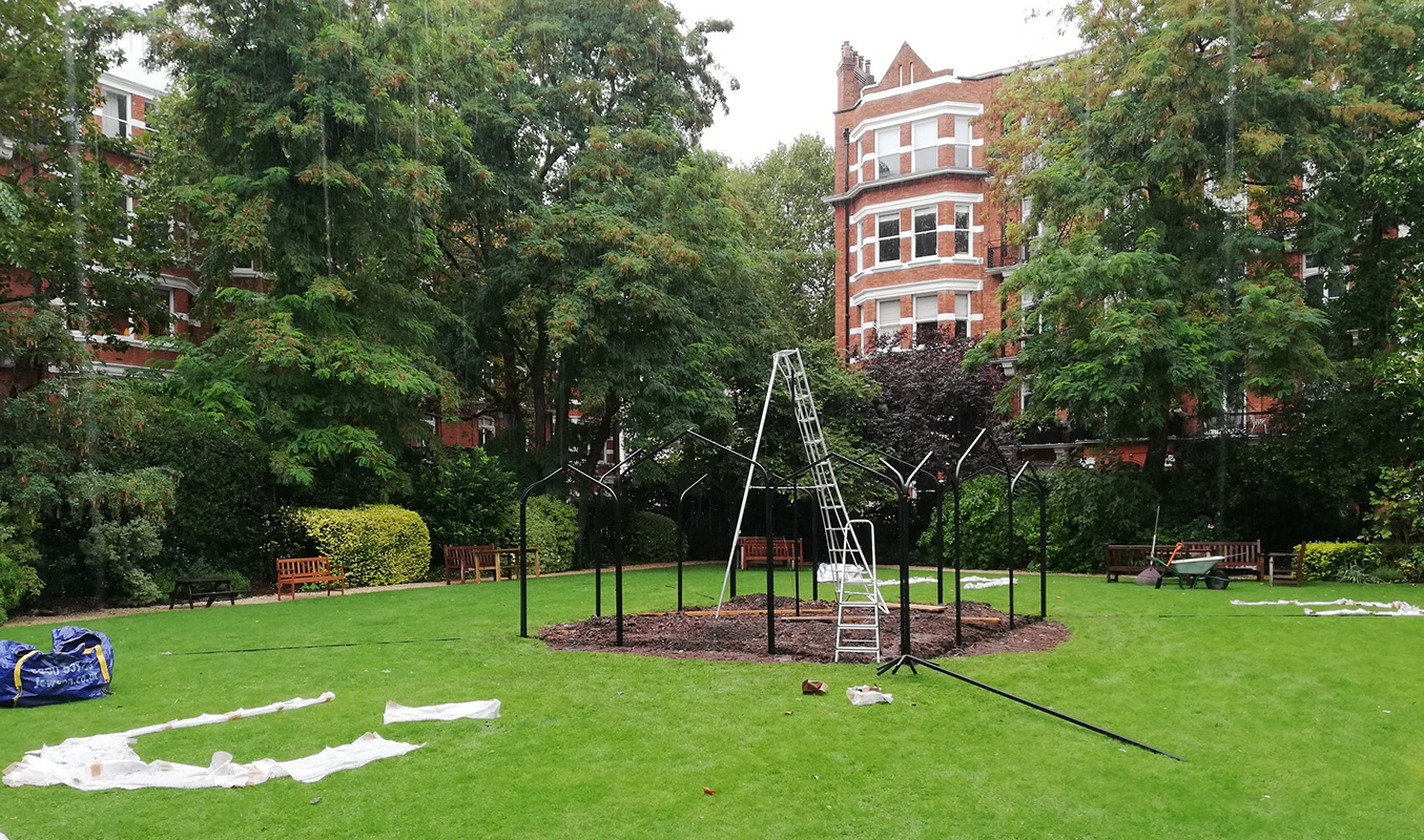 Sissinghurst Pavilion Remake Made of Metal Hot dip galvanised and powder coated - by Classic Garden Elements - Best quality 10 years guarantee on rust Bespoke items made photo 2
