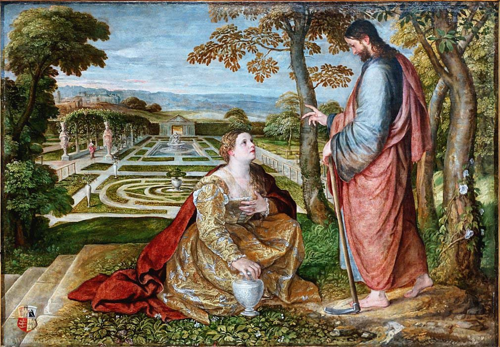 Painting by Lambert Sustris Noli Me Tangere Palais des Beaux Arts in Lille