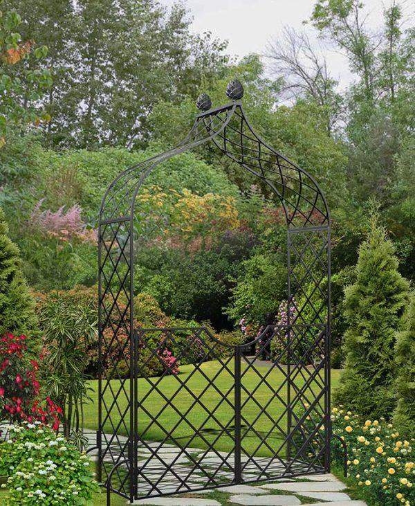 Victorian Garden Arch 'Kiftsgate' with garden gate