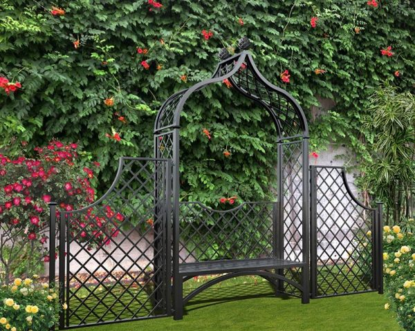 The 'Brighton' arbour seat with side panels