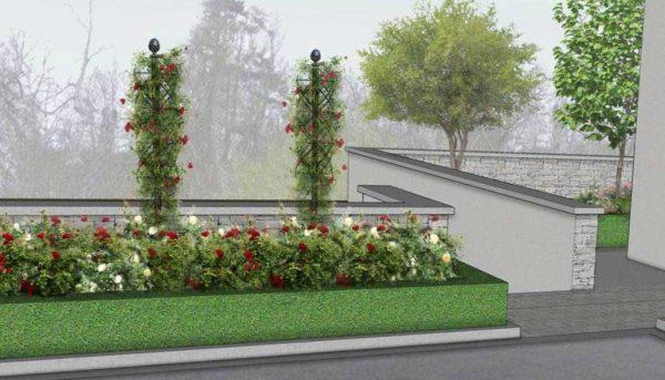 Garden Designs with the Charleston Rose Obelisk 1