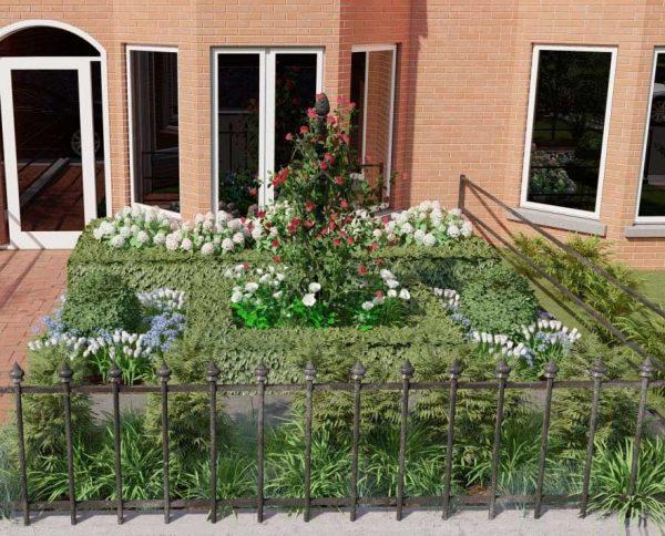 Garden Designs with the Charleston Rose Obelisk 2