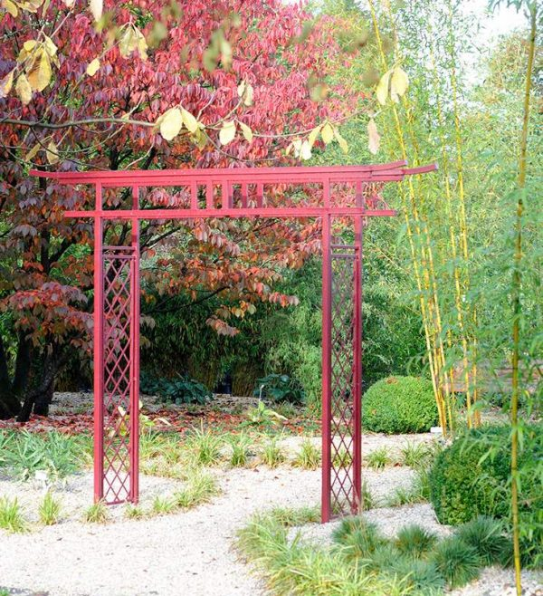 Metal Japanese Garden Arch made by Classic Garden Elements