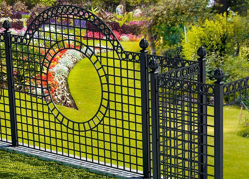 Iron Railings - Metal Fence Panels - Treillage Trellis Panels