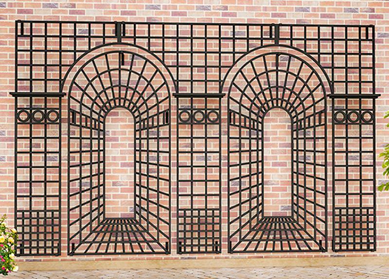 Wall-Mounted Metal Trellises - Metal Garden Trellis - Modern Wall Trellis