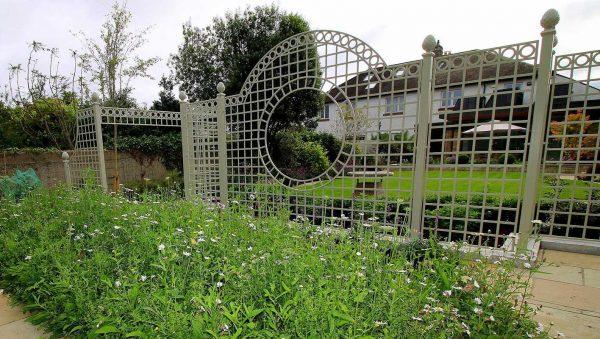 The Trianon Rose Treillage Set in an Irish garden