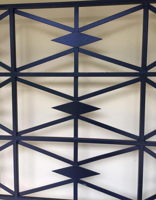 Cubist Wall Trellis Detail